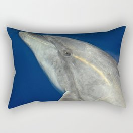 Making friends with a bottlenose dolphin Rectangular Pillow