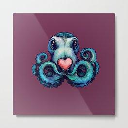 Octopus needs love 1 Metal Print