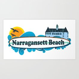 Narragansett - Rhode Island . Art Print