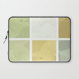 Pale Yellow Poinsettia 1 Abstract Rectangles 1 Laptop Sleeve