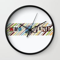 amy pond Wall Clocks featuring Amy Pond by colleencunha