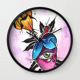 rose arrow heart Wall Clock