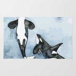 Killer Whales Rug