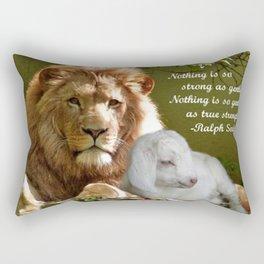 Gentle Strength Rectangular Pillow