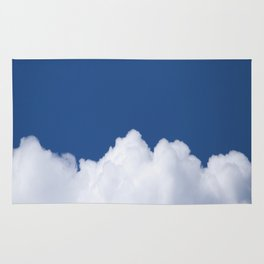 Semi-cloudy Day - Fluffy White Cumulus On The Blue Sky #decor #society6 #buyart Rug