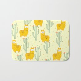 Alpaca summer pattern Bath Mat