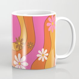Groovy 60's and 70's Flower Power Pattern Coffee Mug