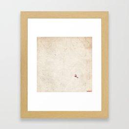 Kiribati map painting square 2 Framed Art Print