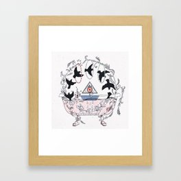 Psychic bathtub. Framed Art Print