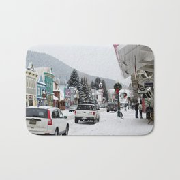 Downtown Crested Butte, Colorado During Winter Time Bath Mat