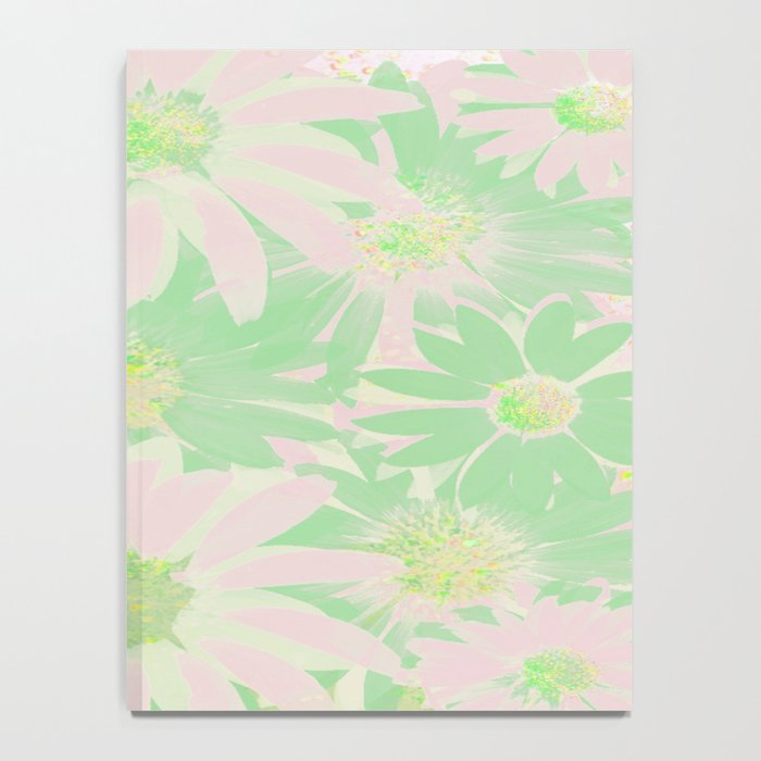 Soft Painterly Pink and Green Floral Abstract Notebook