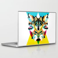 wolves Laptop & iPad Skins featuring wolves by Alvaro Tapia Hidalgo