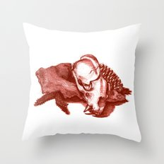 Sketchy Skull Throw Pillow