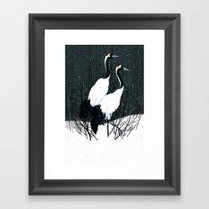 Japanese Cranes / Sayuri Framed Art Print