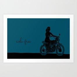 ride free b/b Art Print