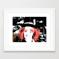 mad hatter Framed Art Prints featuring Mad Hatter by Ona's Eye