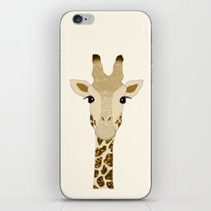 Golden Glitter Giraffe iPhone & iPod Skin