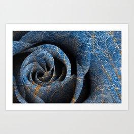 Susquehanna Winter Rose Art Print