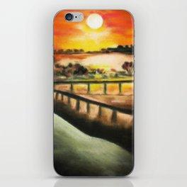 running at dusk 1 iPhone Skin