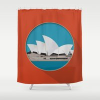 sydney Shower Curtains featuring Sydney by Matthias Hennig