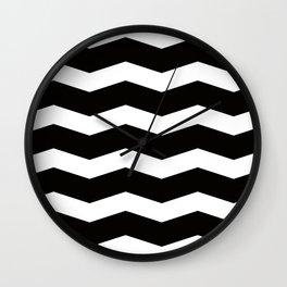 B&W waves Wall Clock