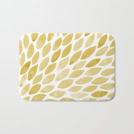 Watercolor brush strokes burst - yellow Bath Mat