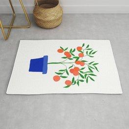 Little orange tree: potted plant VII Rug