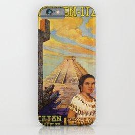 retro chichen - itza  iPhone Case
