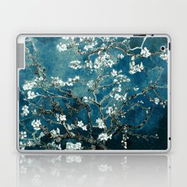 Van Gogh Almond Blossoms : Dark Teal Laptop & iPad Skin