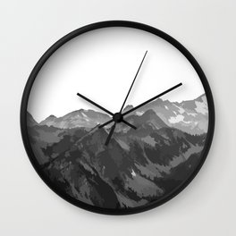 Mountains II Wall Clock
