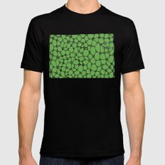 Yzor pattern 006-4 kitai green Black Mens Fitted Tee MEDIUM