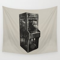 donkey Wall Tapestries featuring DONKEY KONG ARCADE MACHINE by UNDEAD MISTER / MRCLV