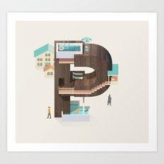 Resort Type - Letter P Art Print