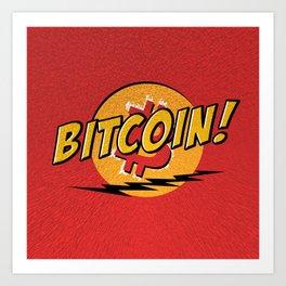 Bitcoin red Tataaa Art Print