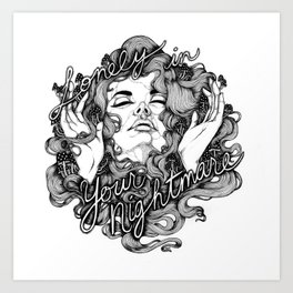 Lonely in Your Nightmare Art Print