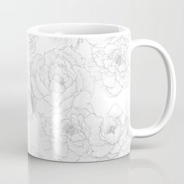Peony Flower Pattern Coffee Mug