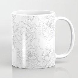 Peony Flower Pattern Coffee Mug