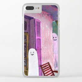 ghost house Clear iPhone Case