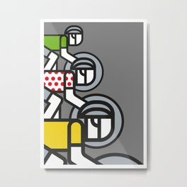 Peloton Tour De France Metal Print