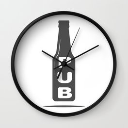 Pub Beer Brewery Handcrafted style Fashion Modern Design Print! Wall Clock