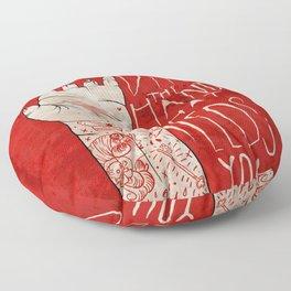 bite the hand. Floor Pillow