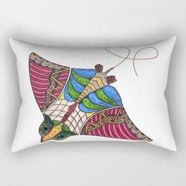 Colorful Stingray Rectangular Pillow