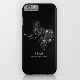 Texas State Road Map iPhone Case