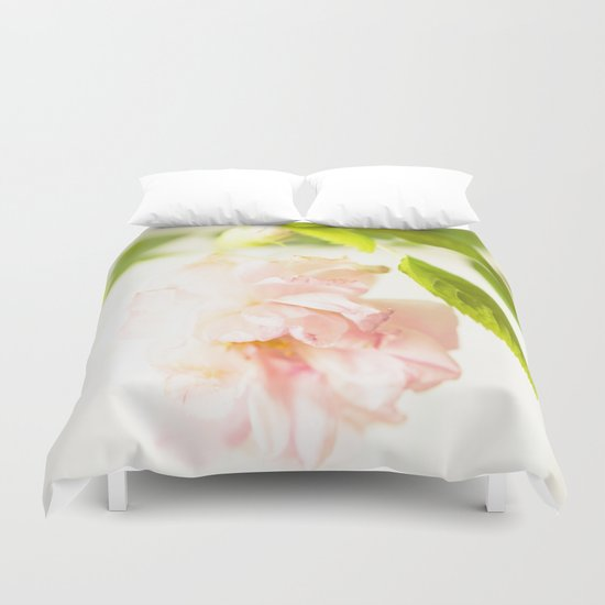 Romantic Soft Pink Rose Duvet Cover