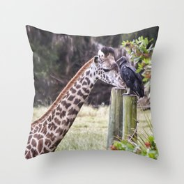 An Unlikely Couple Throw Pillow