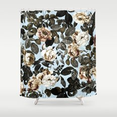 summer botanical garden iv shower curtain