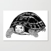 tortoise Canvas Prints featuring Tortoise by Emma Barker