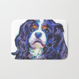 Tri-color Cavalier King Charles Spaniel Dog bright colorful Pop Art by LEA Bath Mat