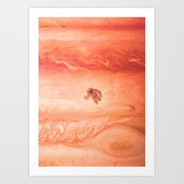 Gone Astronaut Art Print