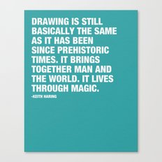 Drawing is still basically the same as it has been since prehistoric times. Canvas Print